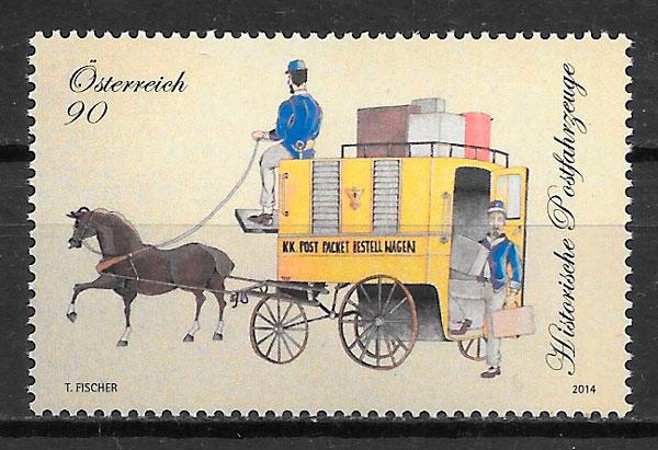 filatelia colección transporte Austria 2013