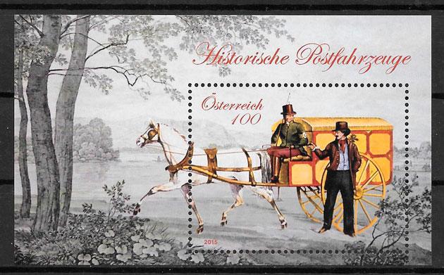 coleción sellos transporte Austria 2015