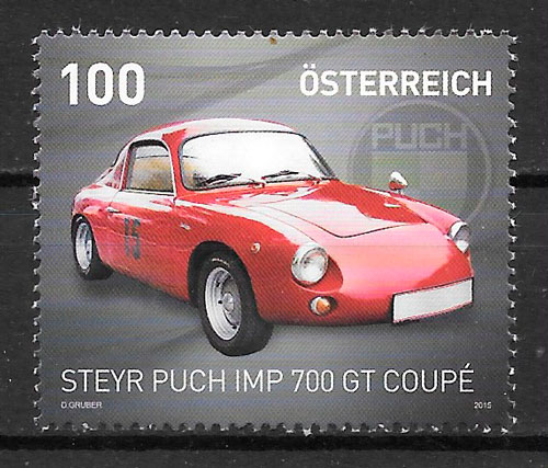 colección sellos transporte Austria 2015