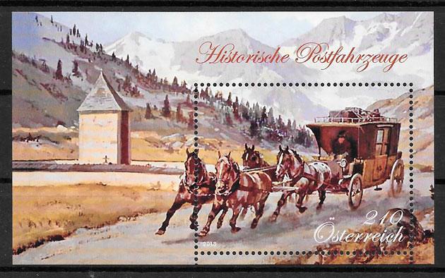 filatelia transporte Austria 2018