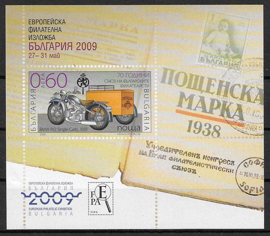 colección sellos transporte Bulgaria 2008
