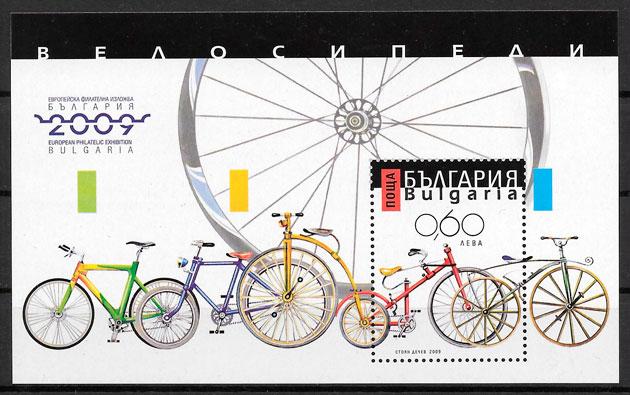 colección sellos transporte Bulgaria 2009