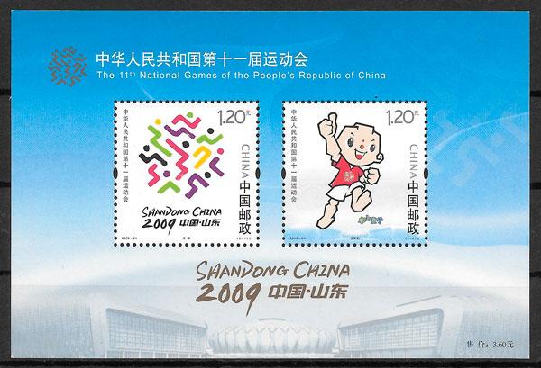 filatelia deporte China 2009