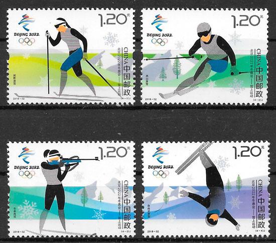 sellos deporte China 2018