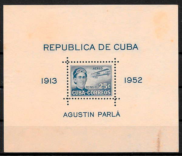 sellos transporte Cuba 1952