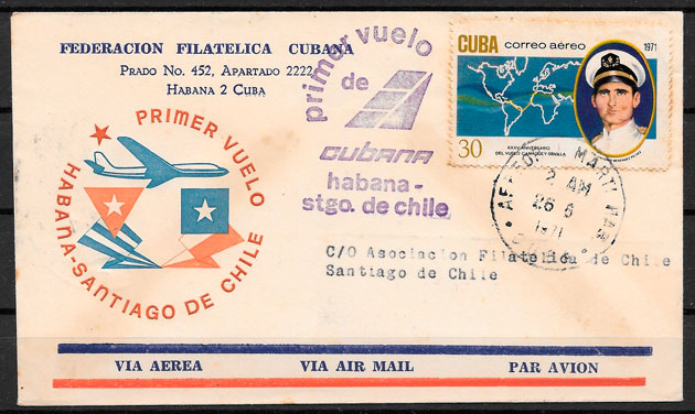 filatelia colección transporte Cuba 1971