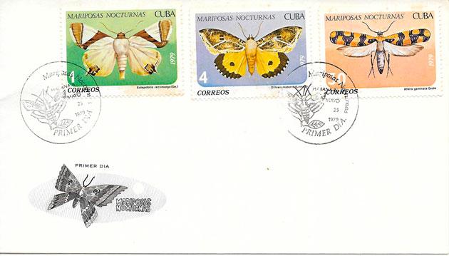 filatelia mariposas Cuba 1979