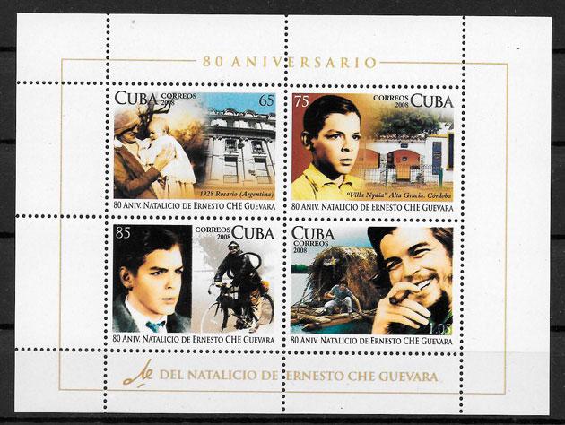 colección sellos personalidad Cuba 2008