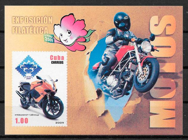 colección sellos transporte Cuba 2009