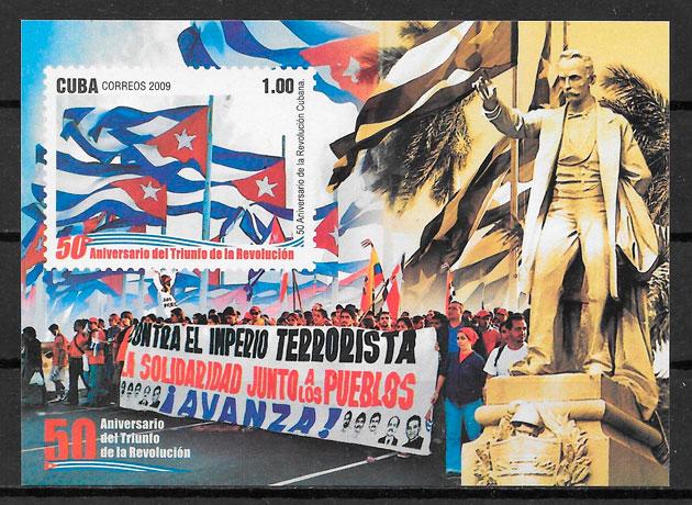 filatelia colección personalidad Cuba 2009