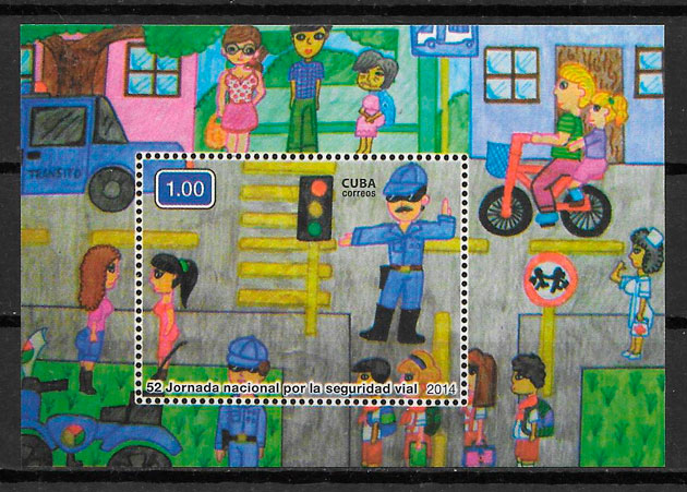 sellos transporte Cuba 2014