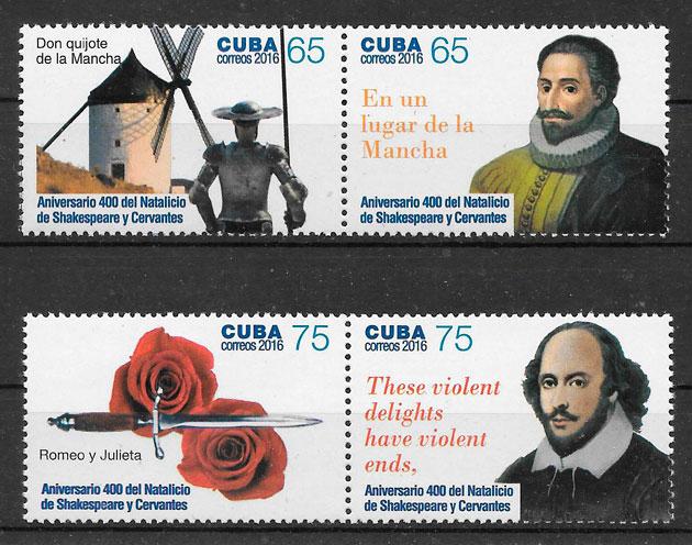 sellos personalidades Cuba 2016