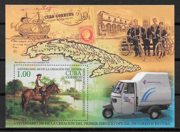 colección sellos transporte Cuba 2016