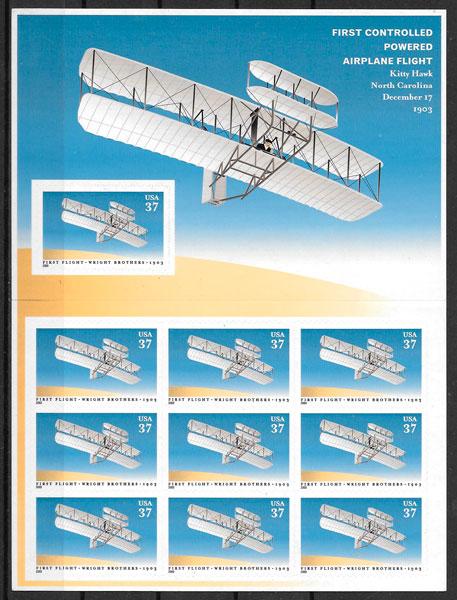 fiatelia colección transporte EE.UU 2003