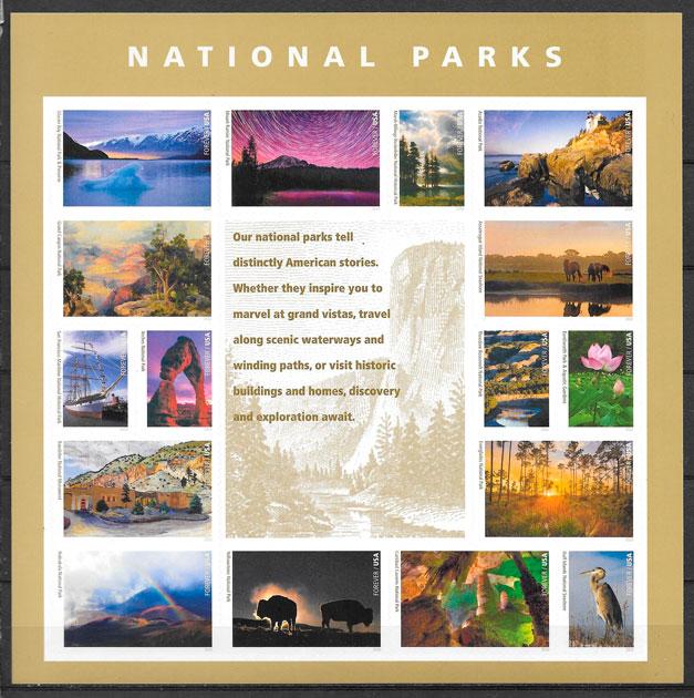 sellos parques naturales USA 2016