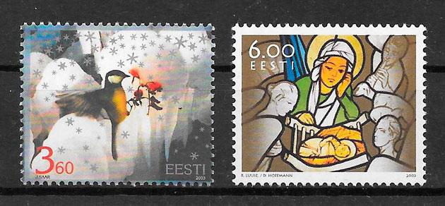 filatelia navidad Estonia 2003