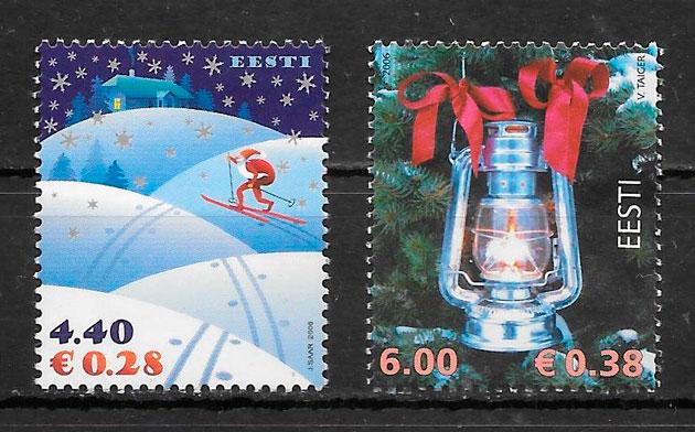 sellos navidad Estonia 2006