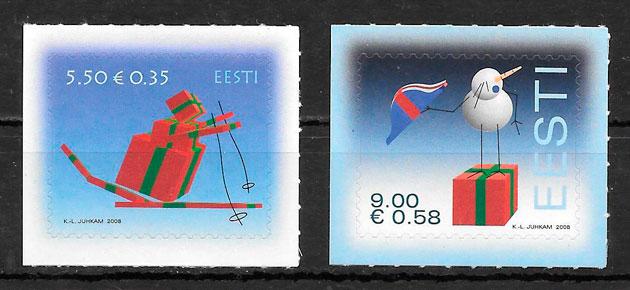 sellos navidad 2008 Estonia