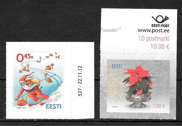filatelia navidad Estonia 2012
