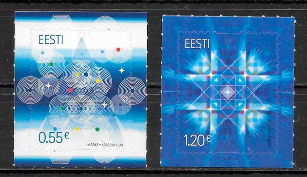 sellos navidad Estonia 2015