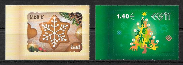 sellos navidad Estonia 2016