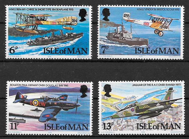 colección sellos transporte Isla de Man 1978