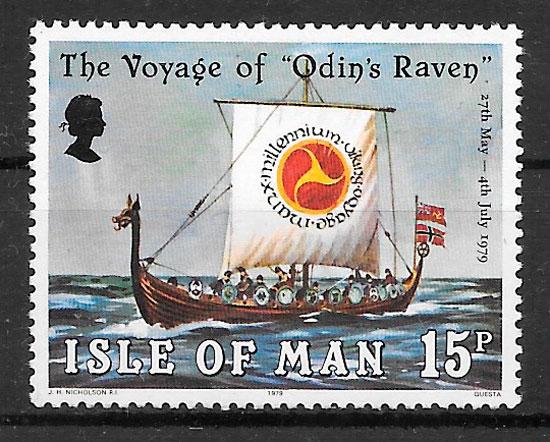 sellos transporte Isla de Man 1979