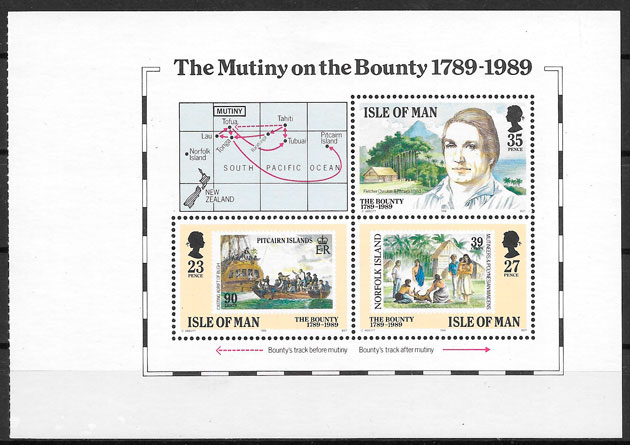 sellos transporte Isla de Man 1989