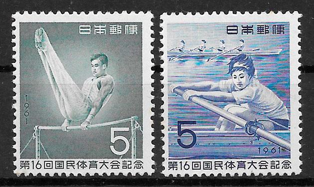filatelia deporte Japón 1959