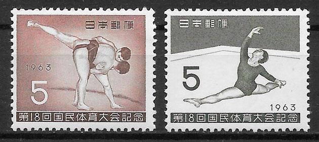 colección sellos deporte Japón 1963