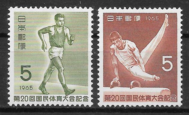 colección sellos deporte Japón 1965