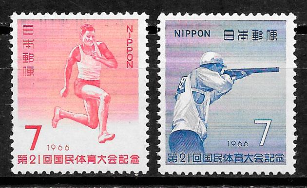 filatelia deporte Japón 1966