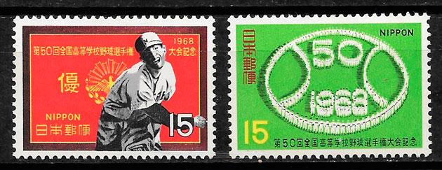 filatelia deporte Japón 1968