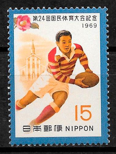 filatelia colección deporte Japón 1969
