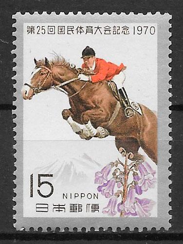 filatelia colección deporte Japón 1970