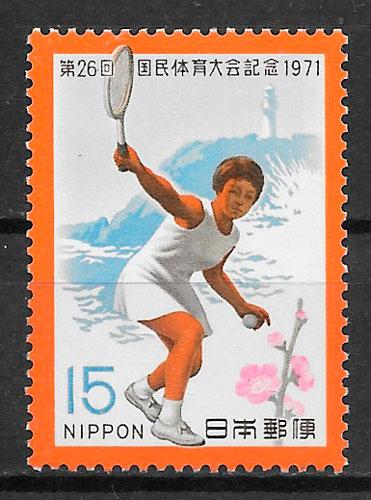 filatelia colección deporte Japón 1971