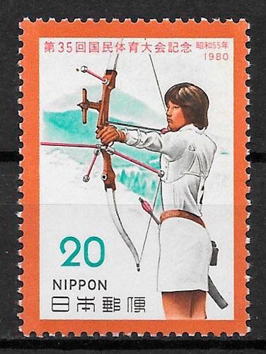 filatelia deporte Japón 1980