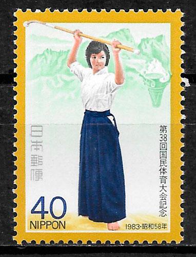 sellos deporte Japón 1983