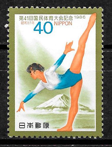 filatelia deporte Japón 1986