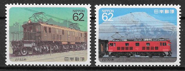 selos trenes Japón 1990