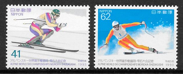 colección sellos deporte Japón 1993
