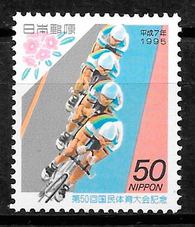 colección selos deporte Japón 1995