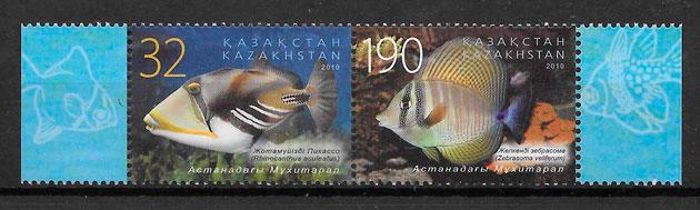 colección sellos fauna Kazastan 2010