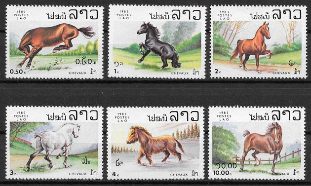 filatelia fauna Laos 1983