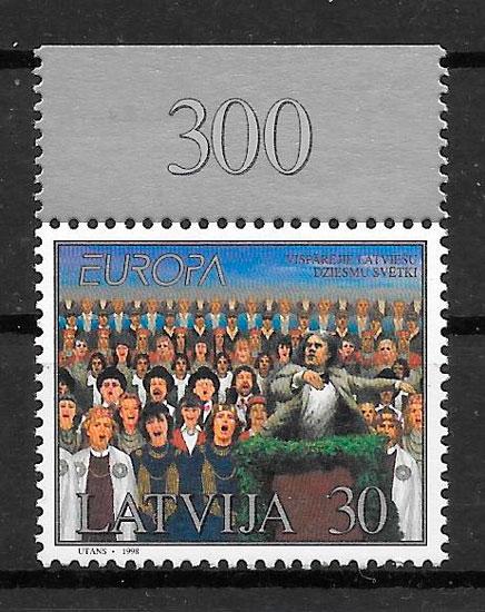 filatelia Europa Letonia 1998