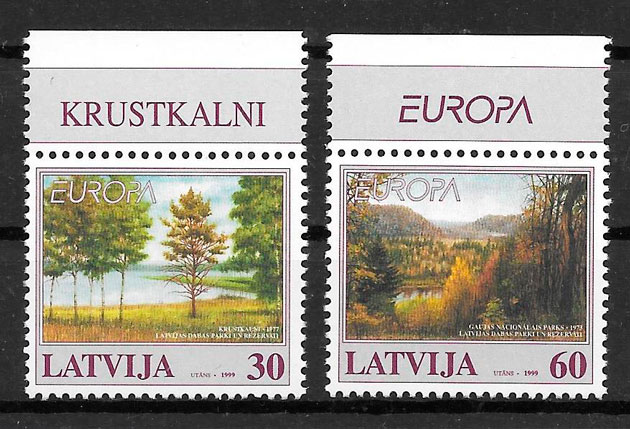 filatelia Europa Letonia 1999