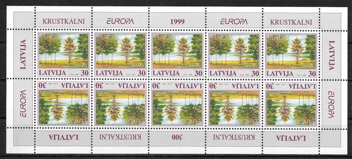 filatelia colección Europa Letonia 1999