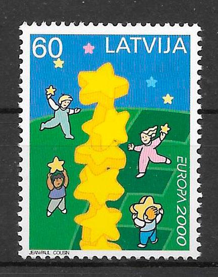 sellos Europa Letonia 2000