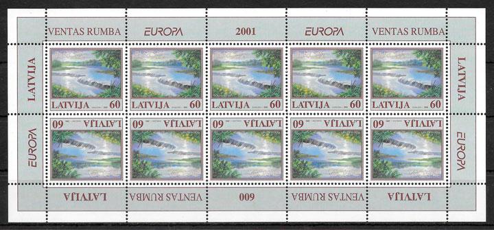 colección sellos Europa Letonia