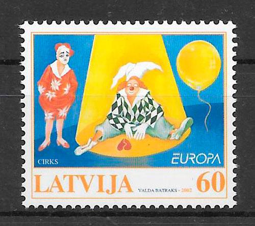 filatelia Europa Letonia 2002